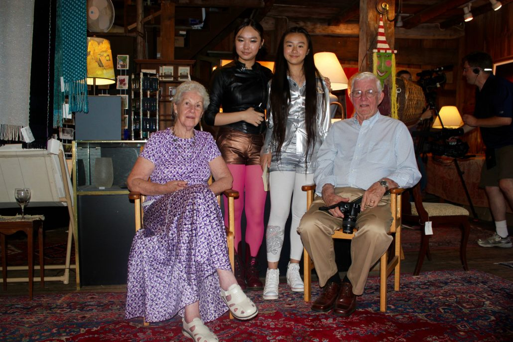 At Gallery at Well Sweep, New Hampshire 2012, with gallery owner Jane and Bob, Zoe Yin age 11