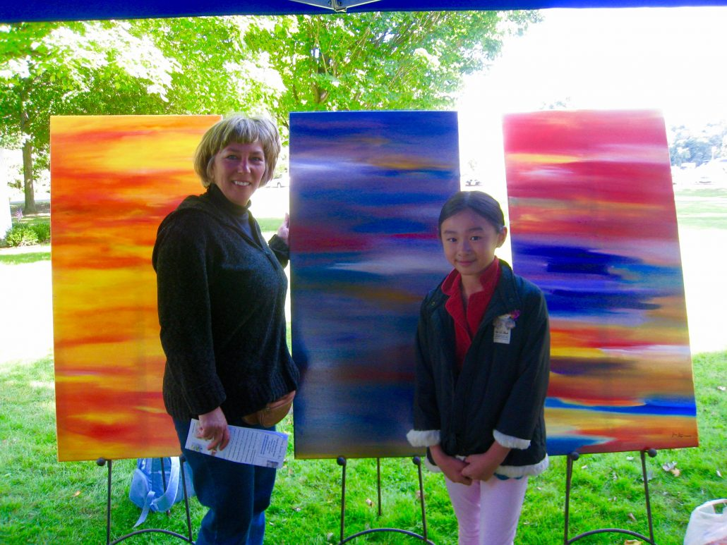 Zoe Yin age 8 with her collector Ms. Debby Massachusetts 2009
